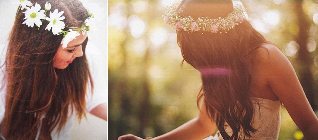 Coiffure de Mariée la couronne de fleurs
