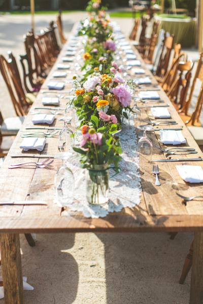 Décoration mariage : les tables banquet