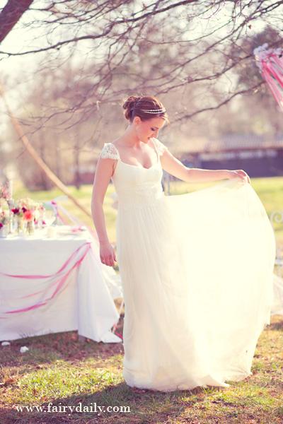 Shooting d'inspiration décoration de mariage  : Pink & Glitter (Part 1)