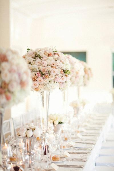 Décoration mariage : les Centres de Table Hauts