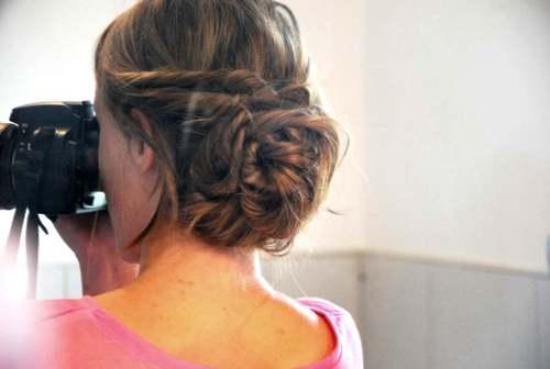 Diy coiffure mariage la mari e en col re blog mariage grossesse voyage de noces Chignon mariee bas