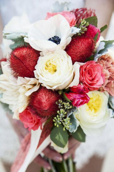 Bouquets & Boutonnières : la passion du rouge.
