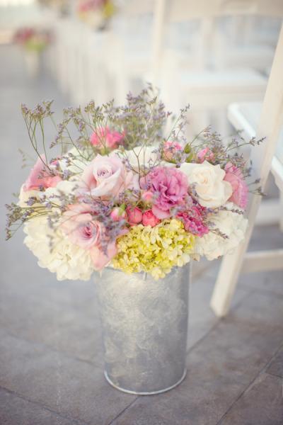 Bouquet de Mariée : Couleurs Pastels