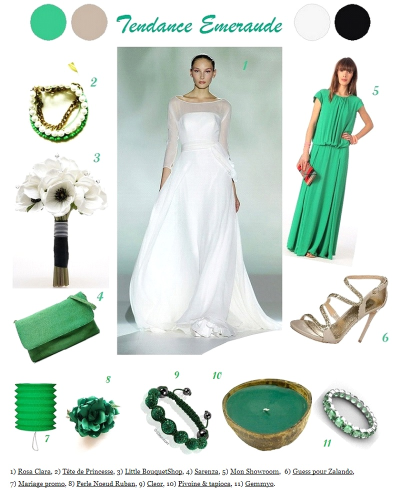 Decoration Mariage Inspiration Vert Emeraude La Mariee En