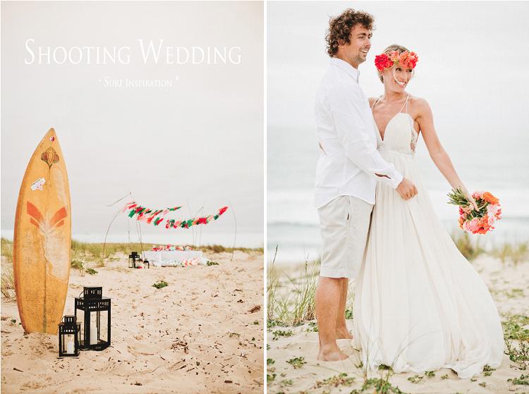Shooting mariage sur le thème du surf. Photo : DavidOne