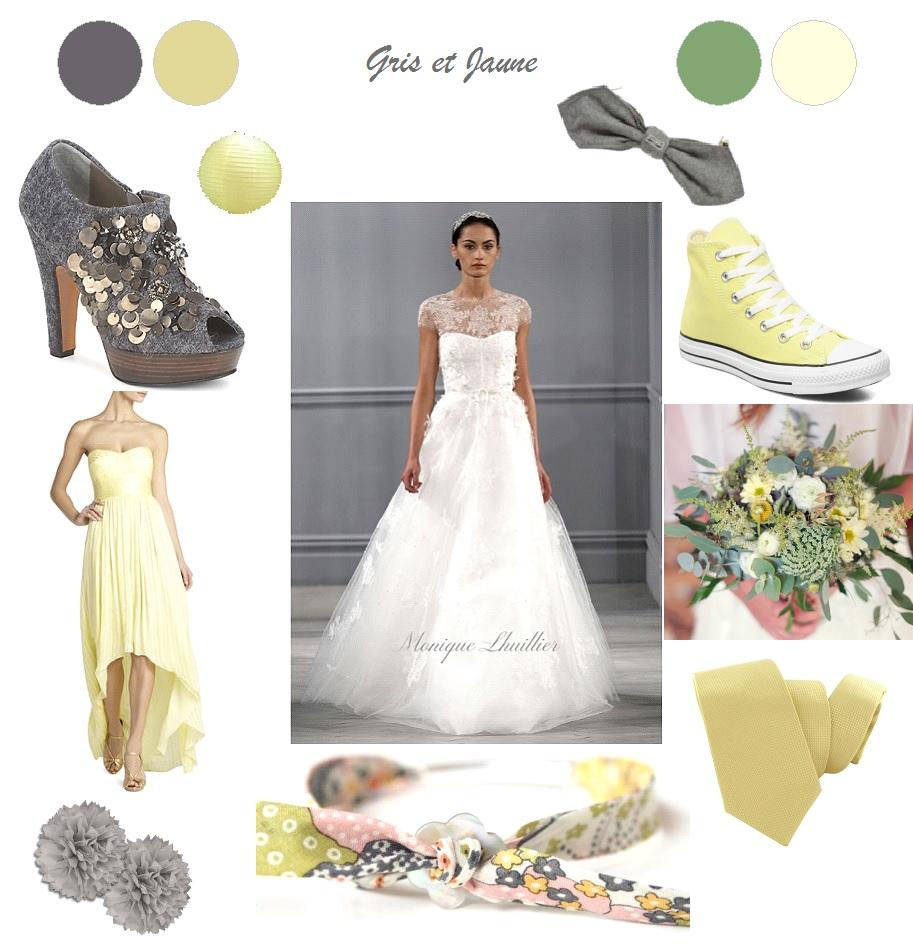 Décoration Mariage gris et jaune - La Mariée en Colère Blog Mariage ...