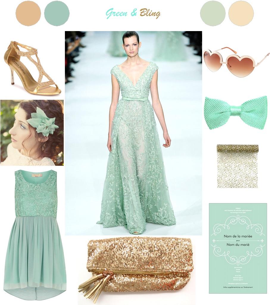 Inspiration : Green & Bling