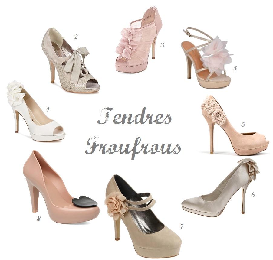{Chaussures Mariage} Escarpins à Froufrous