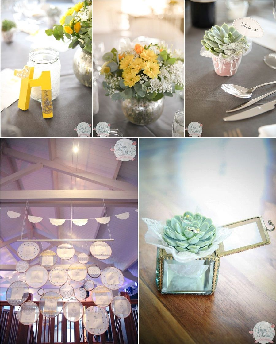 Reportage mariage camille philippe d coration en jaune for Decoration jaune