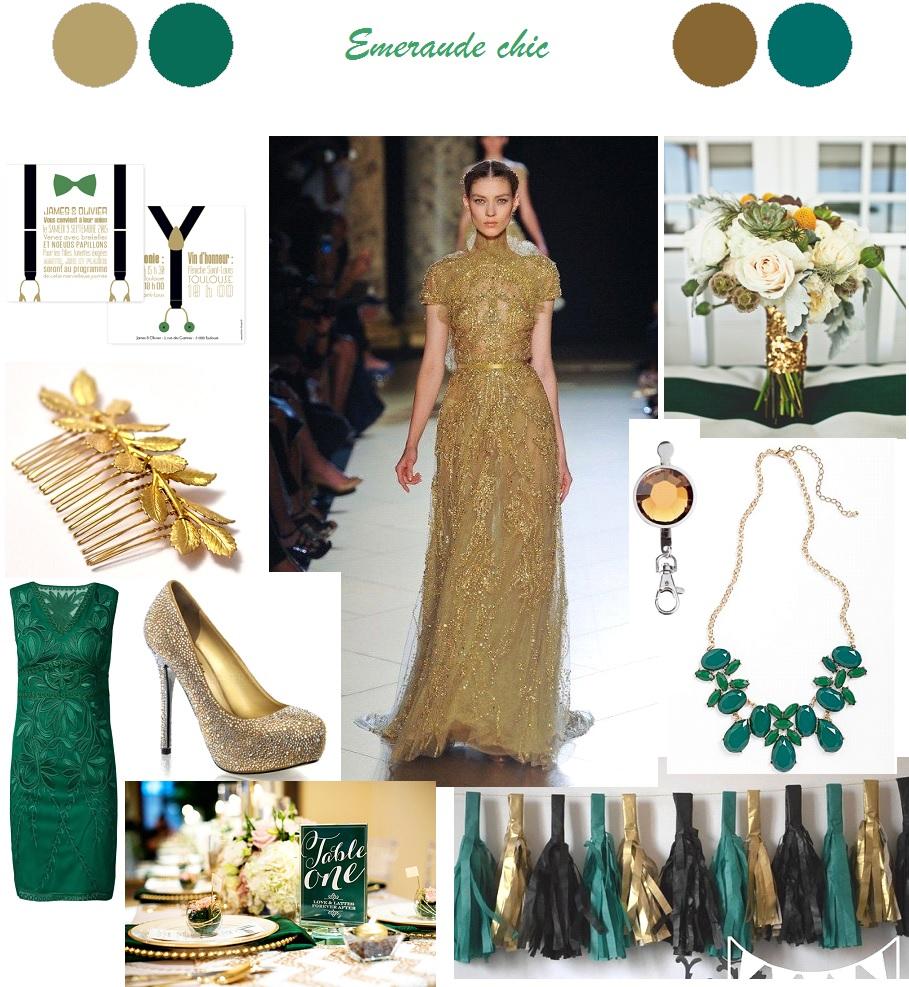 decoration mariage vert doré - La Mariée en Colère Blog Mariage ...