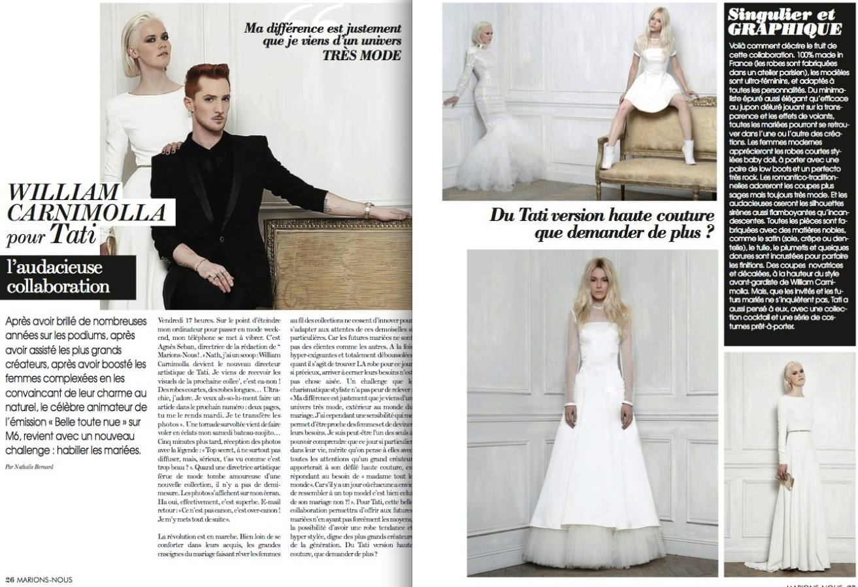 Robe de Mariée : William Carnimolla pour Tati Mariage 2014