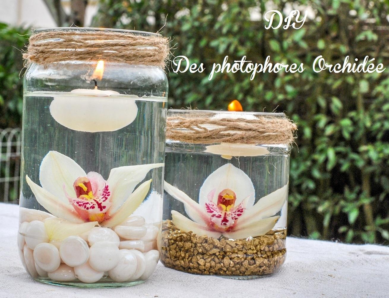 Photophore À Faire Soi Même idée décoration mariage : les photophores orchidée