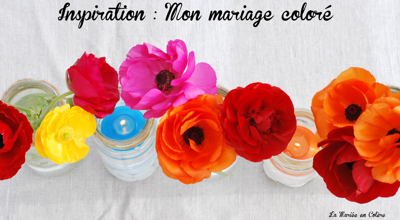 Centre de table color s0045 une la mari e en col re blog - Chemin de table colore ...