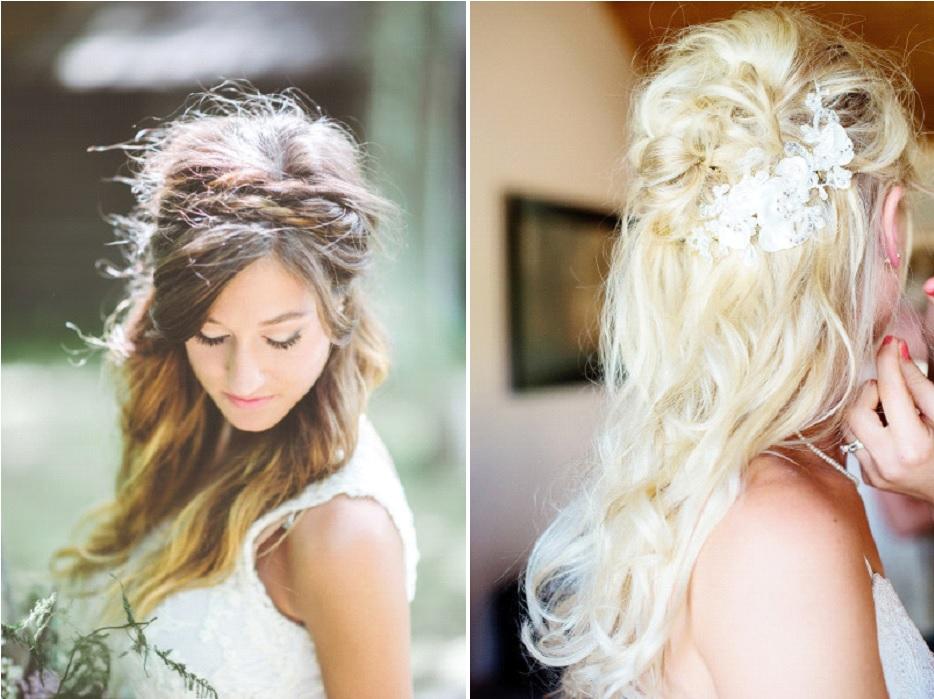 coiffure mariée cheveux lâchés