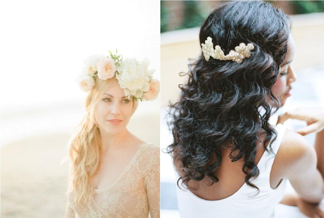 Coiffure De Mariée 10 Idées Avec Les Cheveux Lâchés