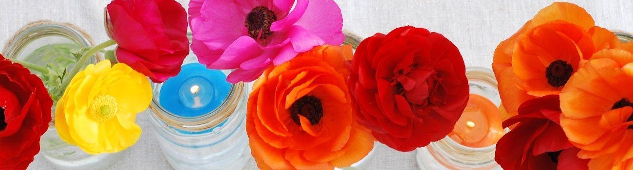 Décoration mariage : un chemin de table coloré