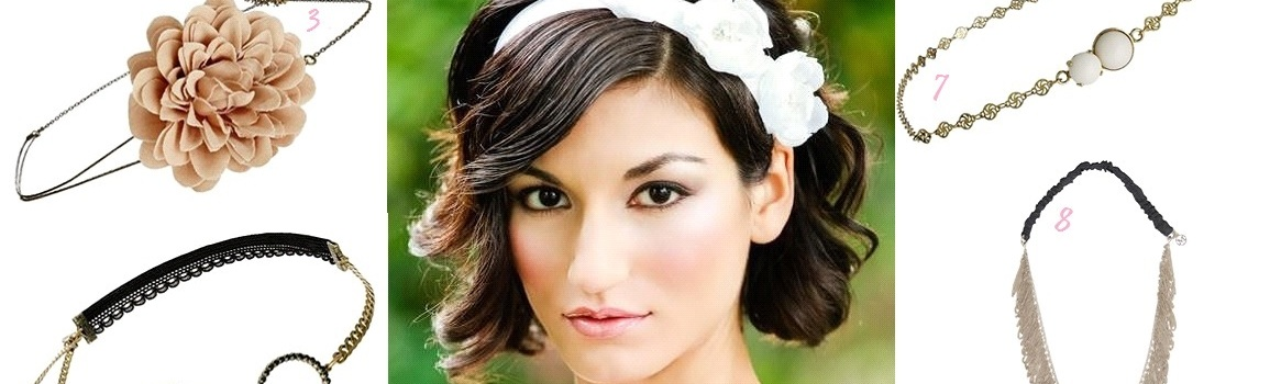 Coiffure de mariée cheveux courts : 10 accessoires à porter