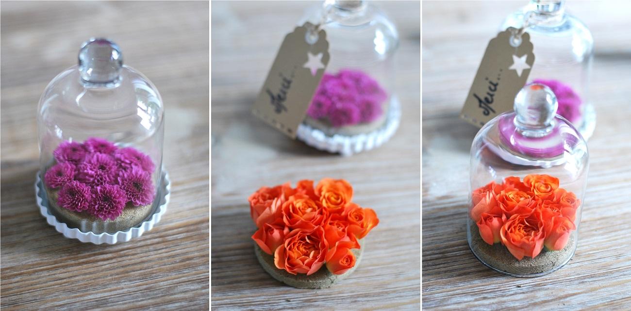 d coration mariage originale des fleurs sous cloche. Black Bedroom Furniture Sets. Home Design Ideas