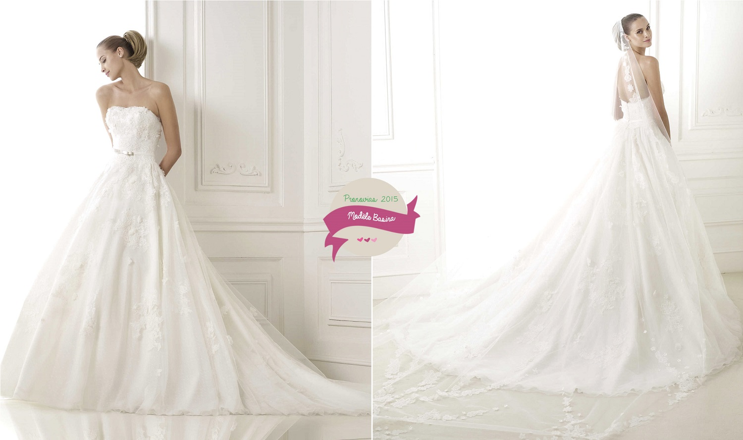 37a9fa6bb97f5 Robe de mariée Pronovias   Collection 2015