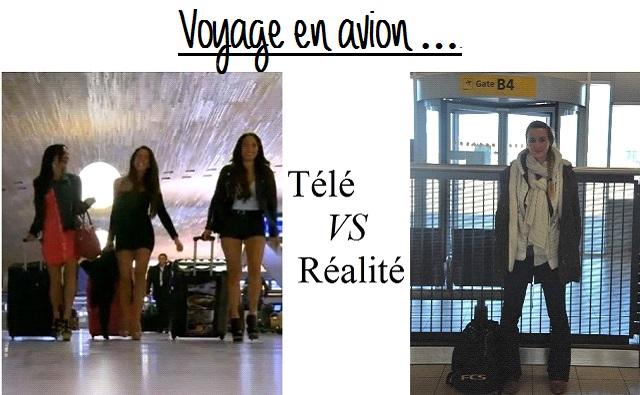 Voyage en avion : Télé vs Réalité