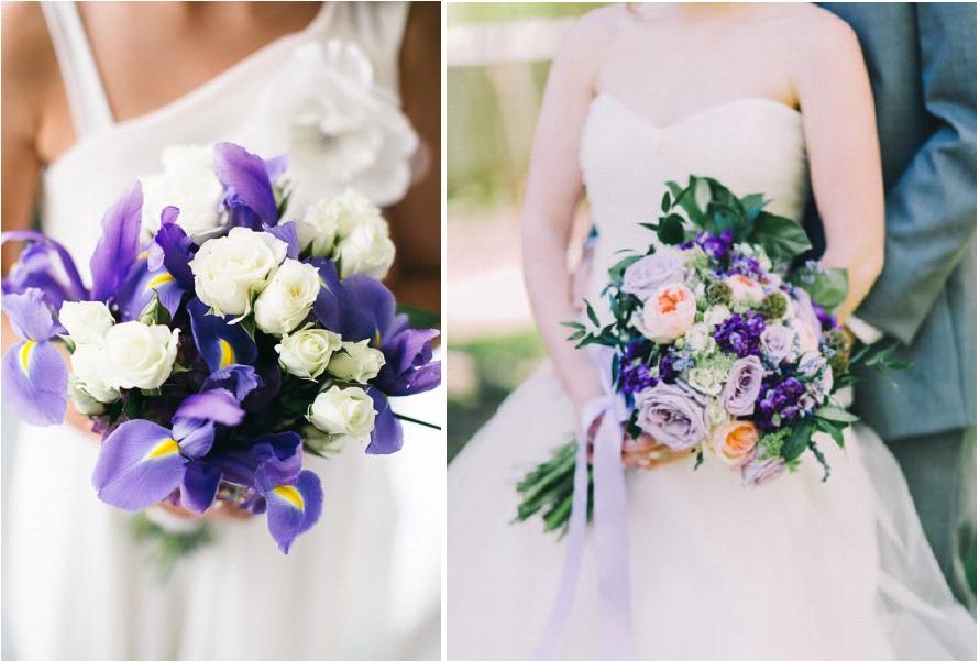Un bouquet de mariée violet !