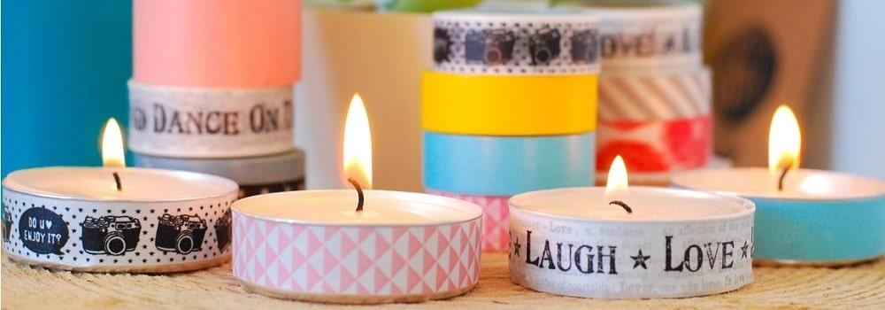 DIY : décorer des bougies chauffe plat