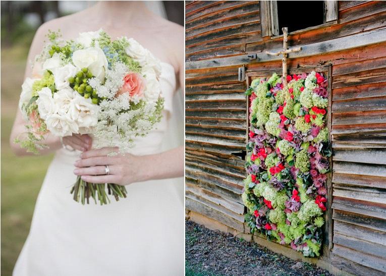 mariage avec des hortensias