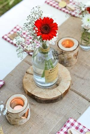 5 tendances deco mariage adopter cette saison - Deco avec rondin de bois ...
