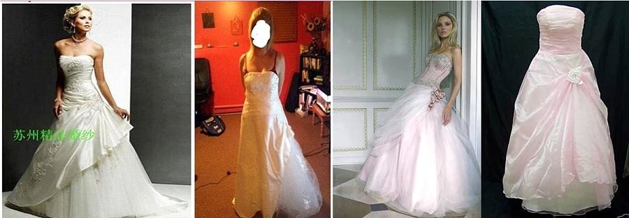 d6dfb54305d Un rétro pour le robe de mariee pas cher chine Rose - acal ...