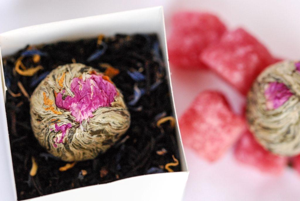 cadeau original invités mariage fleurs de thé