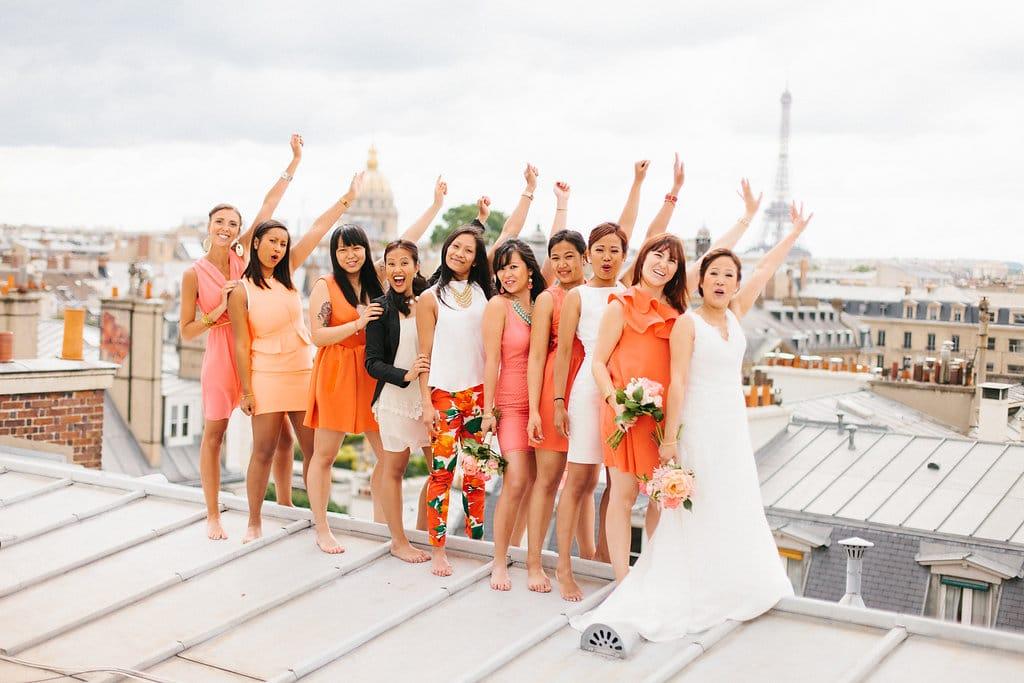 mariage moderne toits paris