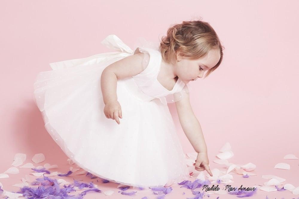 robe enfant d'honneur mon amour