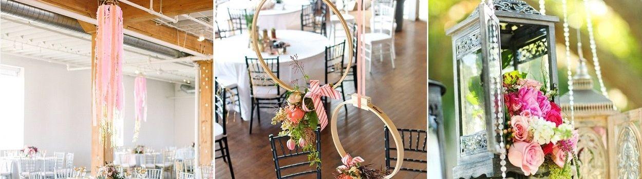 3 décorations originales à suspendre au-dessus de vos tables de mariage