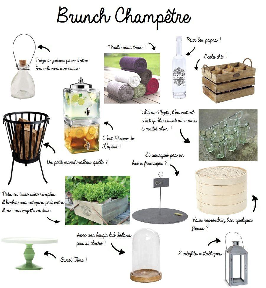 idées shopping pour décoration brunch et mariage champêtre