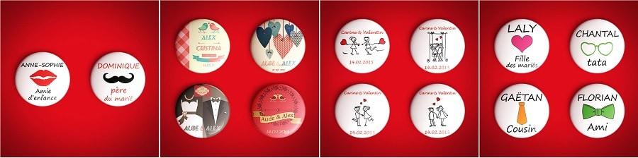 badge personnsalisé mariage