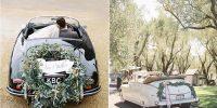 10 idées pour décorer la voiture des mariés