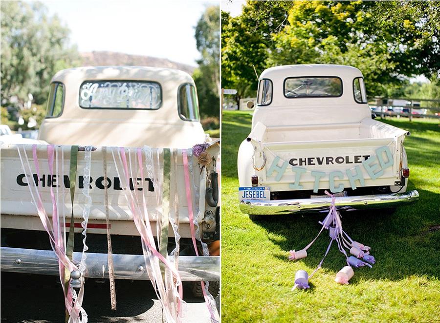 ... les pick-up, parfaits pour un mariage rustique chic sont canons