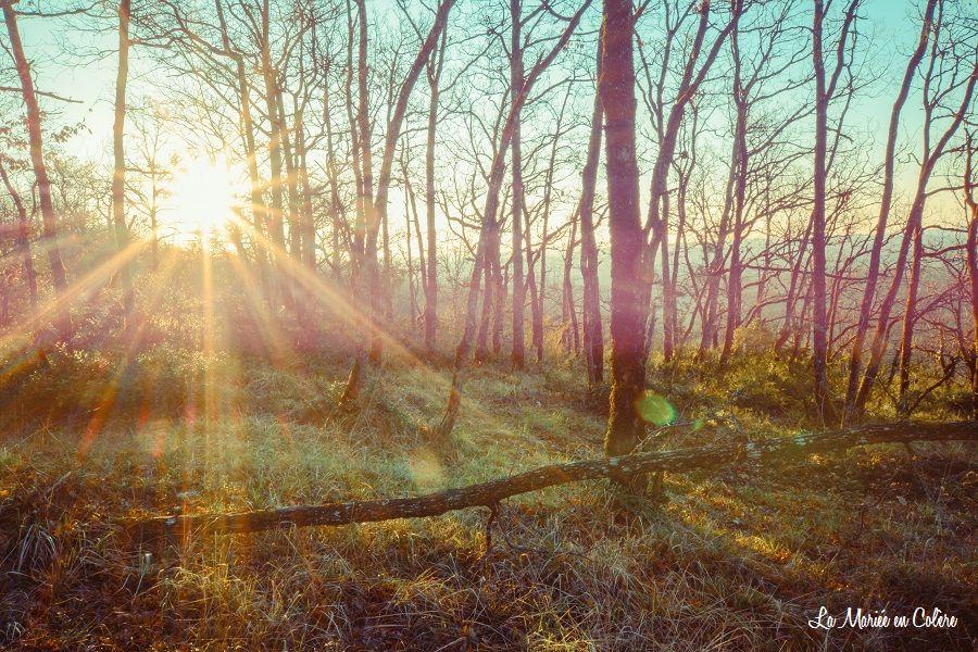 lever de soleil lot camping la truffière
