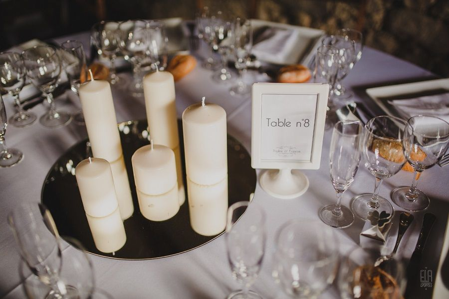 mariage biarritz decoration bougie miroir