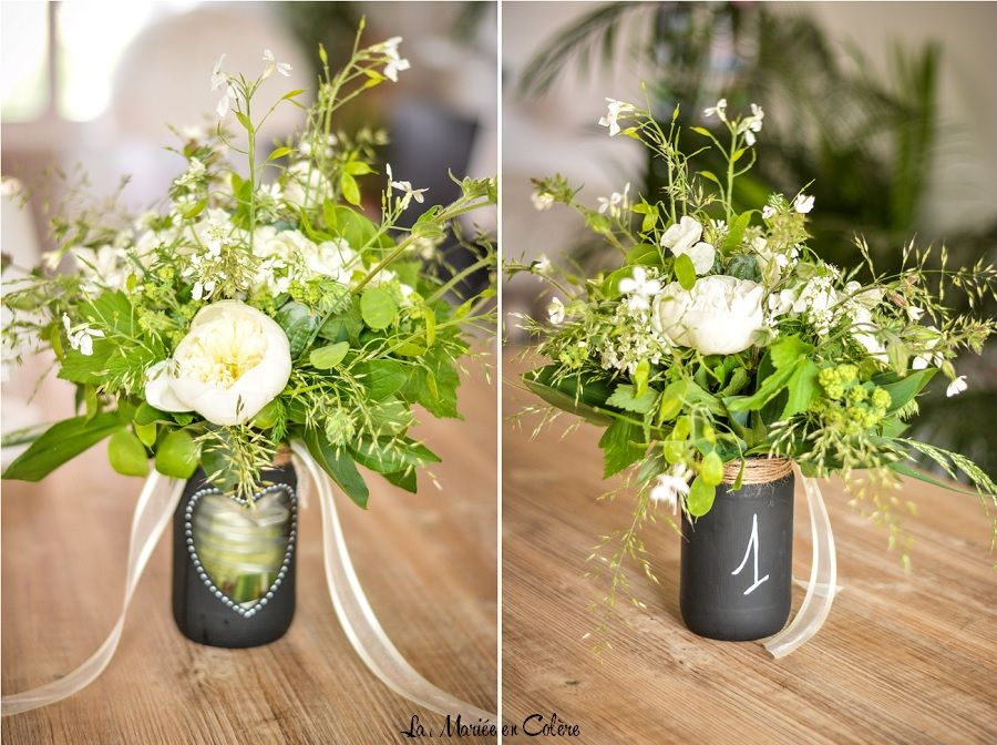 DIY} Le vase ardoise pour vos numéros de table