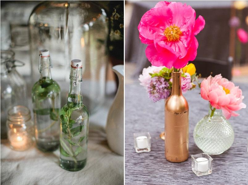 décoration bouteilles en verre