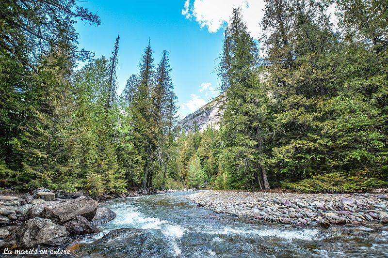 rivière glacier national park