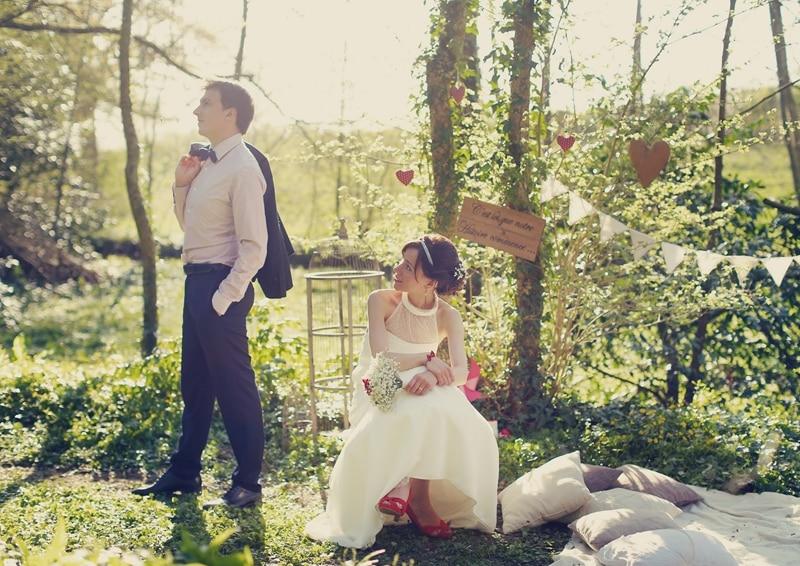 photos mariage champêtre chic