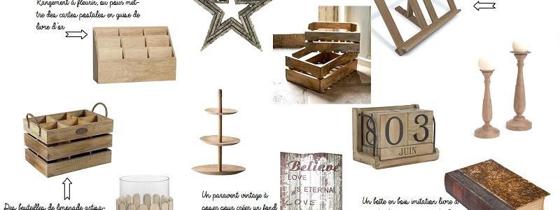 {Shopping} Ma déco vintage & bois