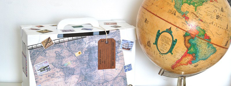 DIY : l'urne de mariage sur le thème du voyage
