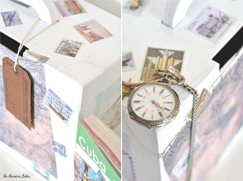 Diy l 39 urne de mariage sur le th me du voyage for Decoration urne de mariage