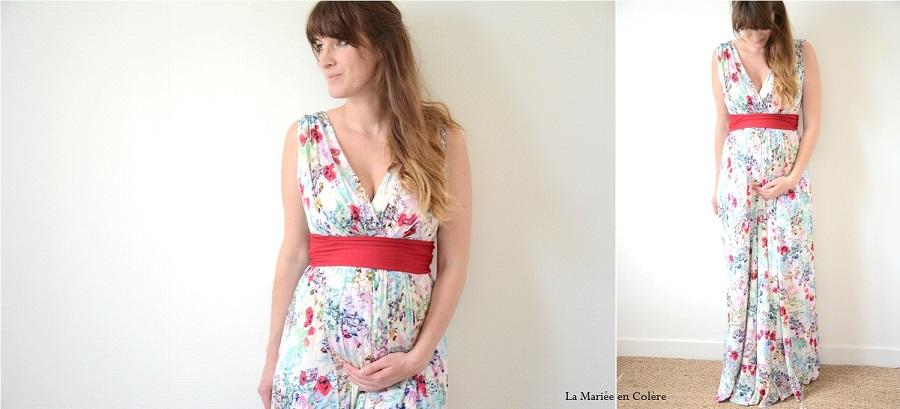 Robe longue de grossesse ete