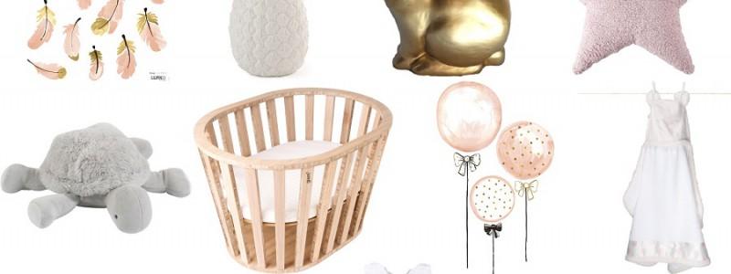 chambre bébé rose doré