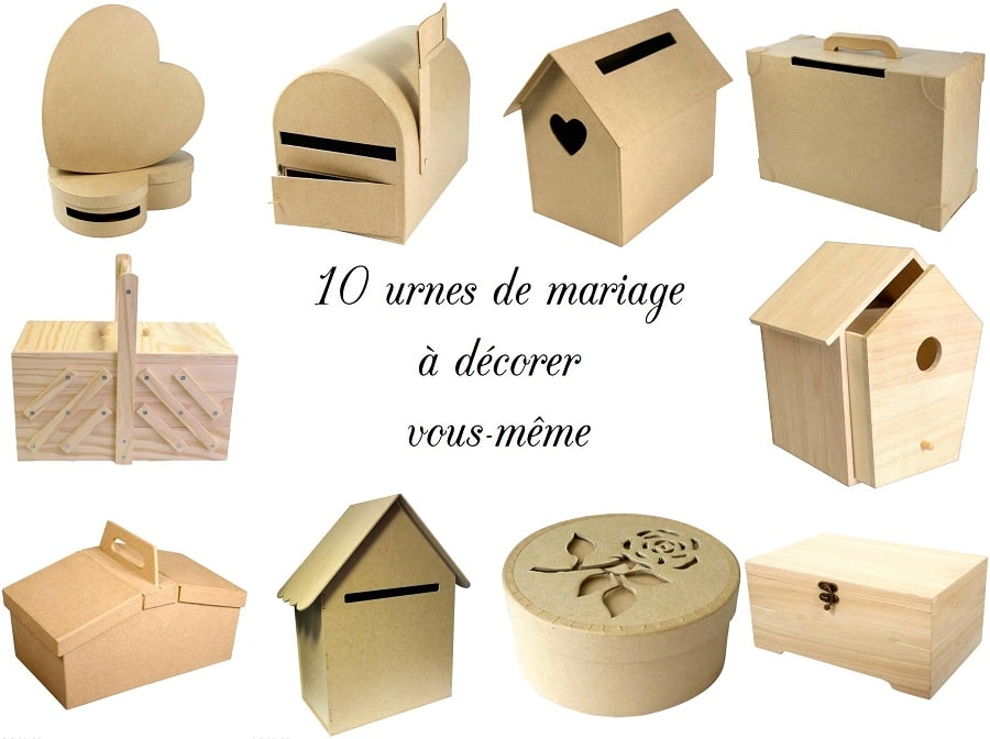 shopping 10 urnes de mariage d corer soi m me la mari e en col re blog mariage grossesse. Black Bedroom Furniture Sets. Home Design Ideas