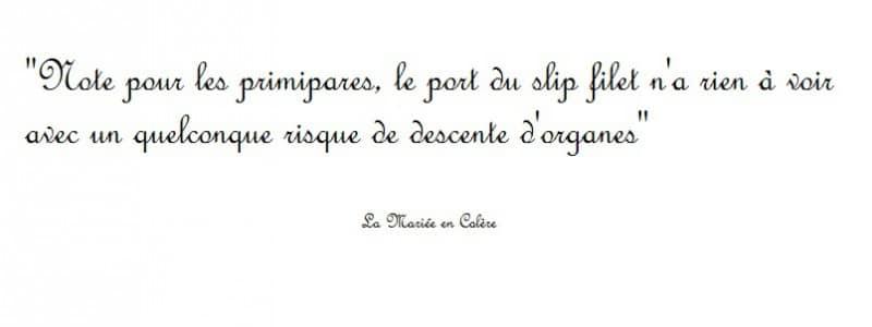 {Grossesse} Le slip filet